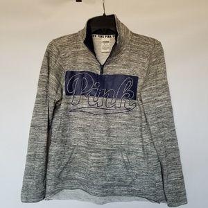 Pink Victoria's secret half zip sweatshirt xs.